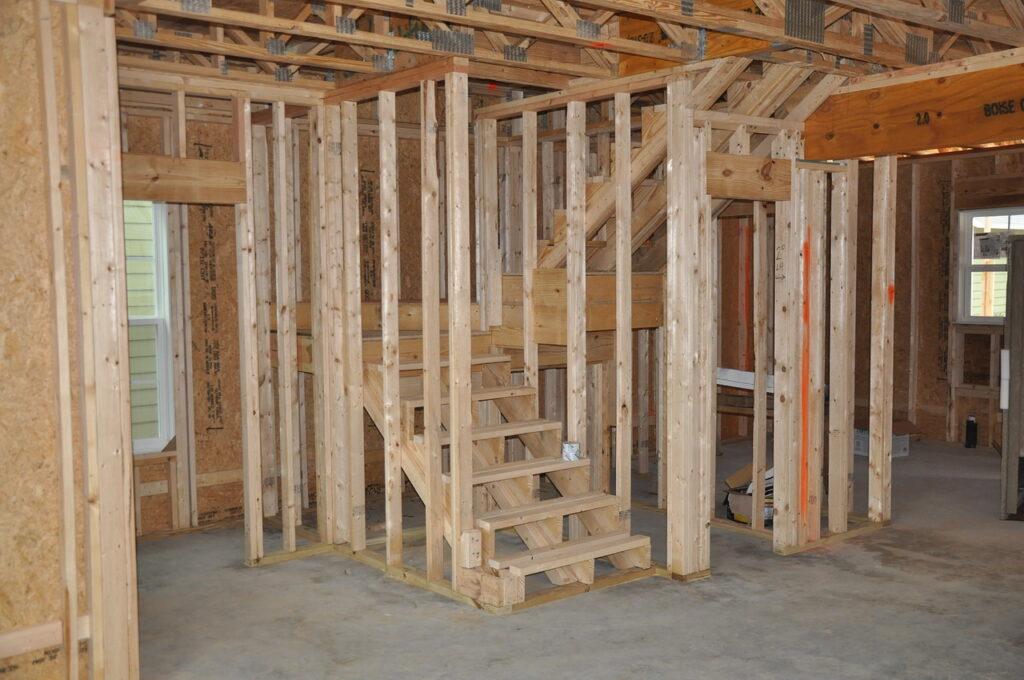 Holzrohbau nach Zwischenreinigung